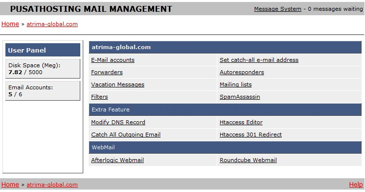 email-hosting-management-panel-pusathosting