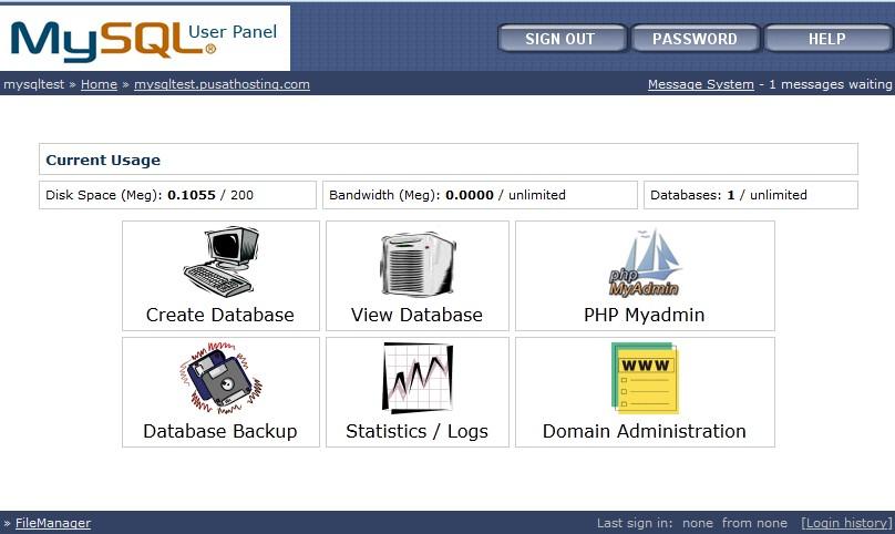 mysql-hosting-control-panel-pusathosting